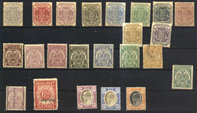LOT 602 SOUTH AFRIKA TRANSVAAL OLD 23 STAMPS COLLECTION / HipStamp