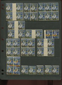 LARGE LOT OF 1939 HAPPY XMAS ORLEANS TB HOSPITAL POSTER STAMPS (L1196)