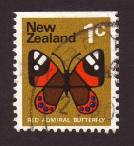 New Zealand 1973 Sc#533 SG#1008 1c Red Admiral Butterfly USED