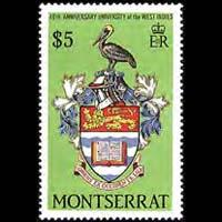 MONTSERRAT 1988 - Scott# 697 W.I.Univ.-Badge Set of 1 NH