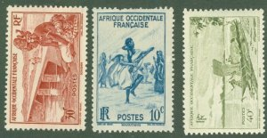 R15-0010 FRENCH WEST AFRICA 36-8 MH BIN $1.50
