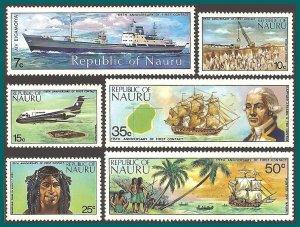 Nauru 1974 First Contact, MNH  #108-113,SG116-SG121