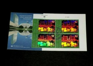 U.N. 2005, VIENNA #359, DEFINITIVE U.R. INSC. BLK/4 & SINGLE ON FDCs, LQQK!