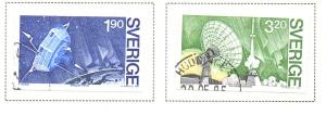 Sweden Sc  1514-5 1984 Viking Satelite stamp set used