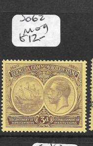 BERMUDA (PP1801B)  KGV 3D  SG 62  MOG