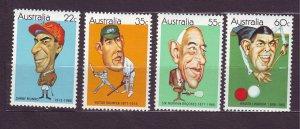 J23833 JLstamps 1981 australia set mnh #772-5 sports
