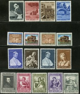 VATICAN Sc#375-403 Eight Sets 1964 Year Complete Mint OG LH