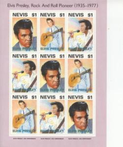 1993 Nevis Elvis Presley Rock & Roll - MS9 776a-c MNH