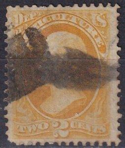 US #O2 F-VF Used CV $100.00 (Z1562)