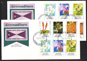 Grenada, Gr., Scott cat. 1256-1267. Orchids Definitive issue. First day cover. ^