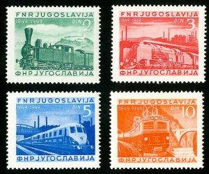 Yugoslavia Stamps # 269-72 XF MNH Scott Value $52.50