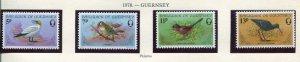 Guernsey Scott 165-68 165-8 Birds 1978 NH