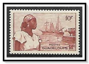 Guadeloupe #189 Harbor & Woman MNH