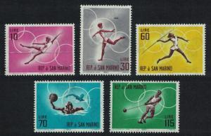 San Marino Olympic Games Tokyo 1964 1st issue 5v SG#726-730 SC#577-581
