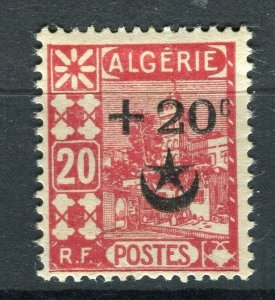 FRENCH; ALGERIA 1927 Wounded Soldiers issue fine Mint hinged 20c. value
