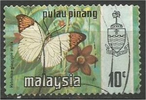 PENANG, 1971, used 10c, Butterfly Scott 78
