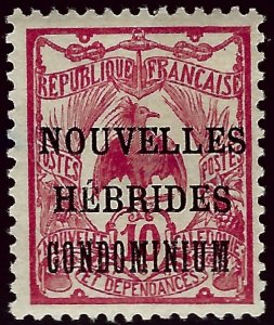 French New Hebrides SC#7 Mint F-VF hr ...French Colonies are Hot!