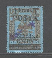 ALBANIA 1919  #104, OVERPRINT,  MH