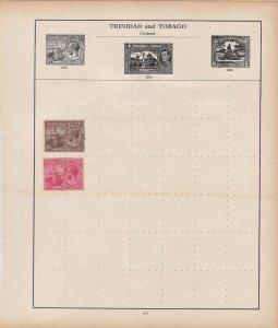 Trinidad & Tobago Stamps on Album Page ref R18920