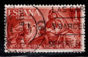 Spain 969 Used Refugee tamp