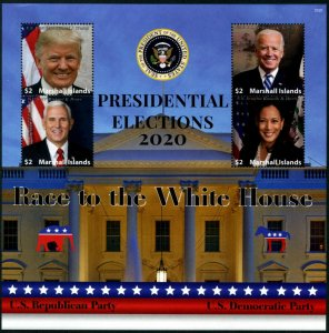 HERRICKSTAMP NEW ISSUES MARSHALL ISLANDS Presidential Election 2020 Sheet I