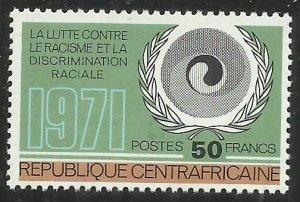 1971 Central African Republic 256 EMBLEM EQUALITY AGAINST RACIAL DISCRIMINATION