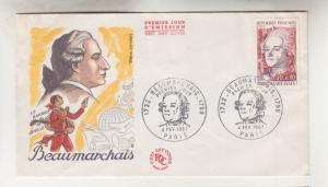 FRANCE, 1967 Red Cross Fund, Beaumarchais, 30c.+10c., First Day cover.