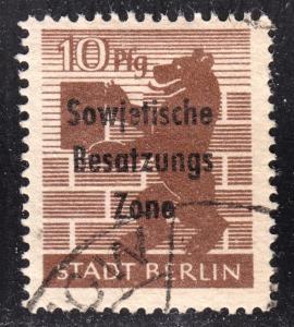 Germany DDR Scott 10N25  F+  used.