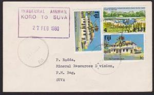 FIJI 1980 First flight cover Koro to Suva...................................5058