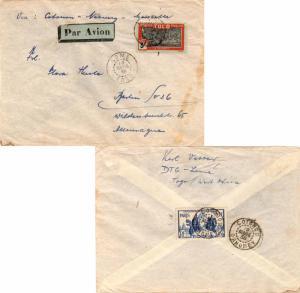 Togo 5F Oil Palms and 1.50F Paris International Exposition 1938 Lome, Togo Ai...