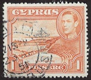 Cyprus 1938-1951 King George VI 1Piastre (LL-79)