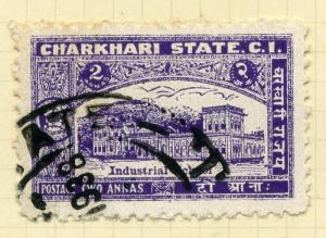 INDIA;    CHARKHARI  1931 early issue fine Mint hinged 2a. value