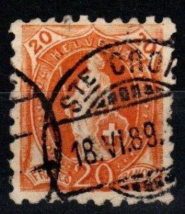 Switzerland #89 F-VF Used CV $125.00 (X1417)