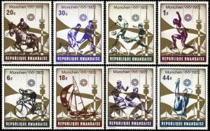 Rwanda 478-485,MNH, Munich Summer Olympic Games