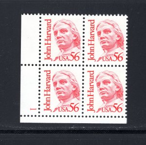US #2190,  Plate#Block,VF,MNH,Great Americans, J Harvard, CV $5.25 ..... 6785639