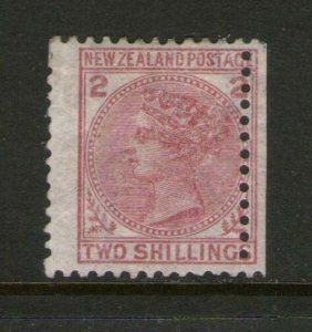 New Zealand 1878 QV 2/- SG 185 or Sc 59 with wing margin OG MH - scarce