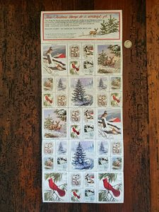 US 1983 National Wildlife Federation Mint Cinderella Stamp Sheet OG NH