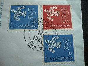 Europa 1961 - Luxembourg - Registered Air Mail Cover to Zurich