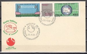 Italy, Scott cat. 1516-1517. Engineering issue. First day cover. ^