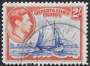 Gilbert & Ellice 49  139   two shillings  fvf used