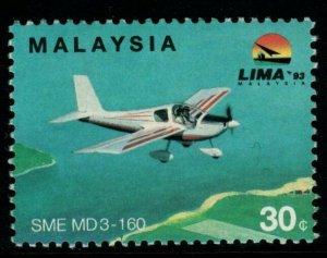 MALAYSIA SG516a 1993 30c INTERNATIONAL AEROSPACE EXHIBITION WMK INVERTED MNH