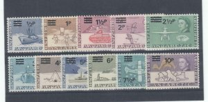 BRITISH ANTARCTIC TERRITORY # 25-35 VF-MLH CAT VALUE $65+