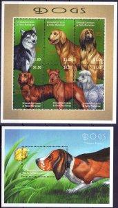 Grenada. 2000. 3290-95 bl487. Dogs. MNH.