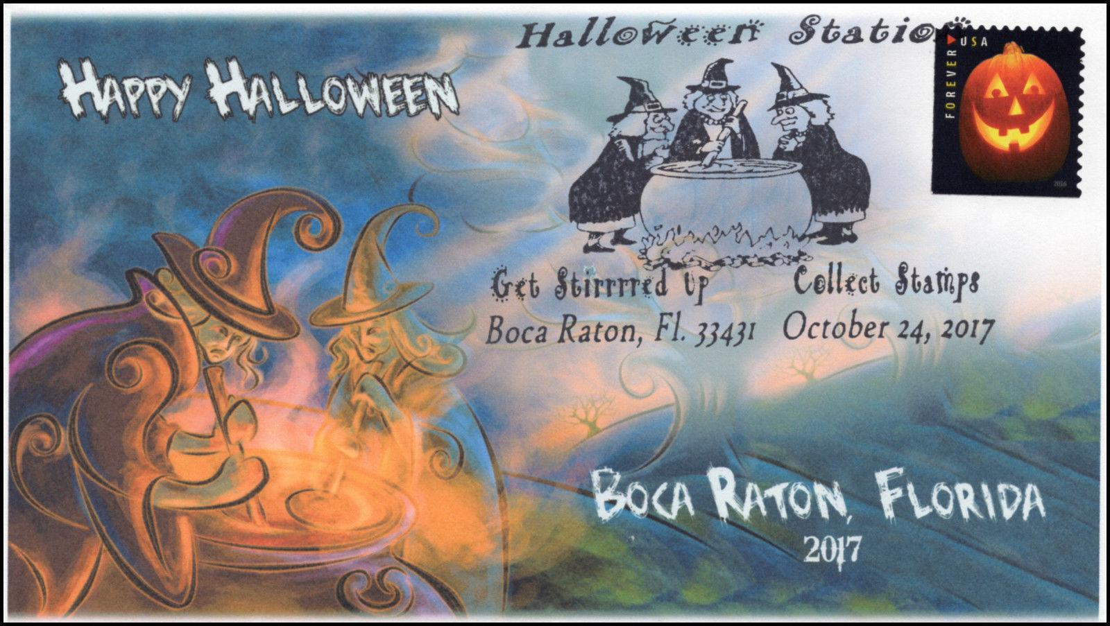 17-313, 2017,Halloween, Event Cover, Pictorial Postmark, Boca Raton