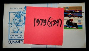 FDCs - 1979 COMMEM YEAR SET - x29 - see photo
