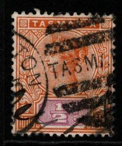 TASMANIA SG216 1892 ½d ORANGE & MAUVE USED