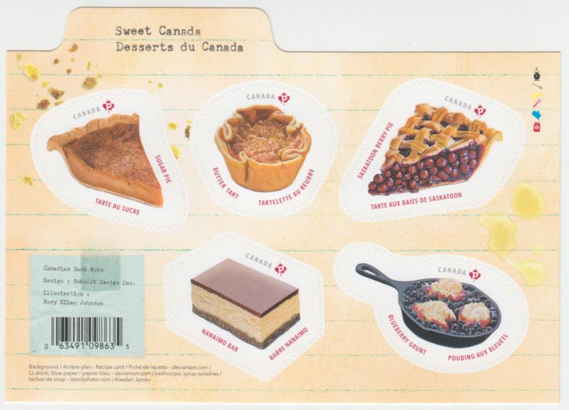 Canada - #3177 Sweet Canada Souvenir Sheet  - MNH