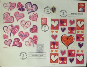 HNLP Hideaki Nakano 4122 Hershey Candy Kisses Purple Heart Hearts on Stamps