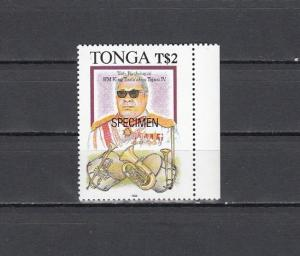 Tonga, Scott cat. 852 only. King & Music Instruments value. Specimen o/print.