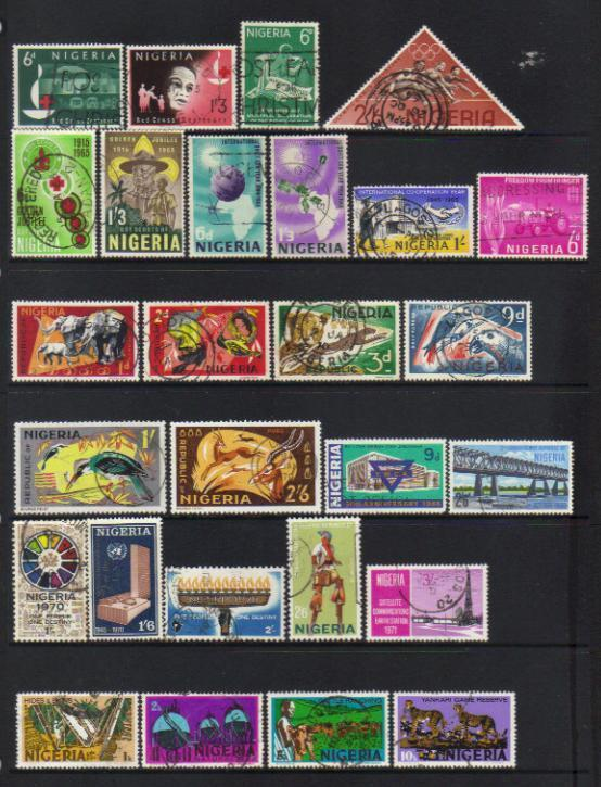 (101) NIGERIA 1963-1973 USED SELECTION INCL SETS
